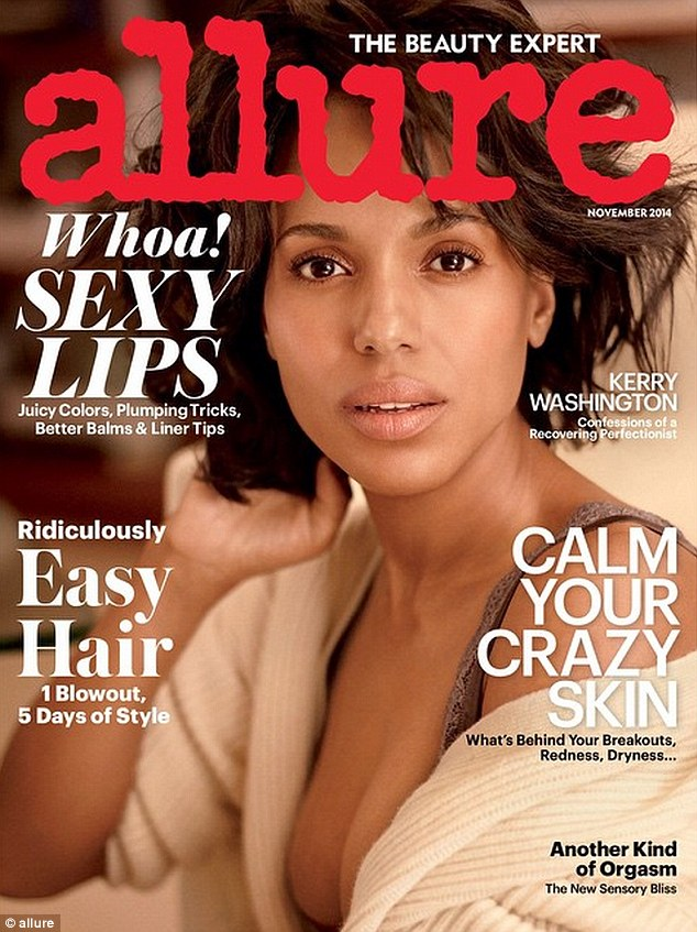 Kerry Washington is definitely ready for her closeup: The gorgeous 37-year-old lets her natural beauty shine through on the cover of Allure magazine's November issue
