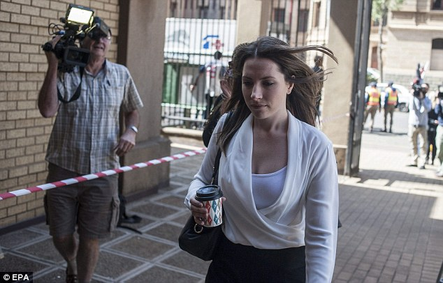 There for her brother: Aimee Pistorius has been in court almost every day of the seventh-month trial