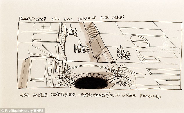 Original Sketches Used To Plan Star Wars Scenes Sell For