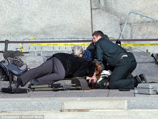Ominous: Responders frantically tried reviving Cirillo at the base of the Tomb of the Unknown Soldier