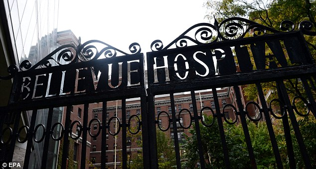 Treated: Spencer was being treated at Bellevue Hospital, the health department said. The historic city hospital is one of the eight in New York state designated this month as part of an Ebola preparedness plan
