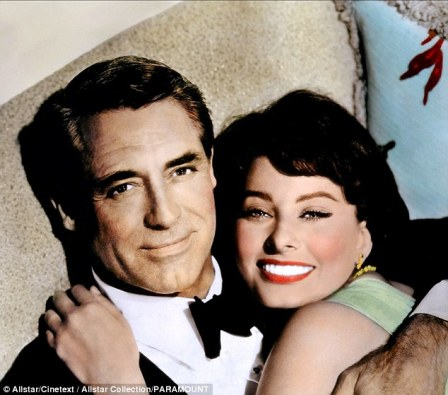 Image result for grant and loren in houseboat