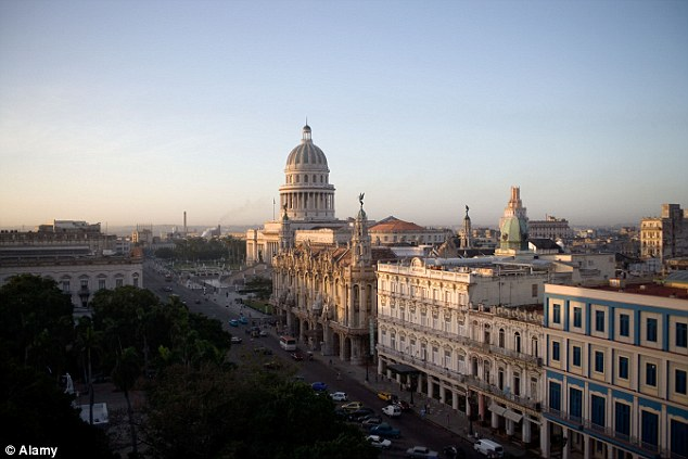 The construction of a Catholic church in Cuba (pictured is the capital Havana) is a sign of improving relations between the Communist Government and the Vatican