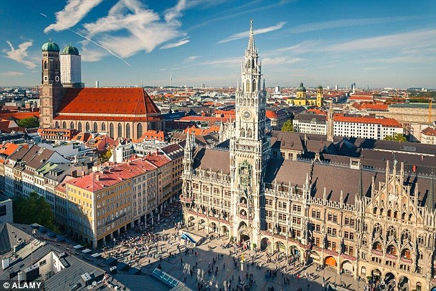 Munich in Germany came in second place, with the Bavarian capital scoring five stars for its food and drink