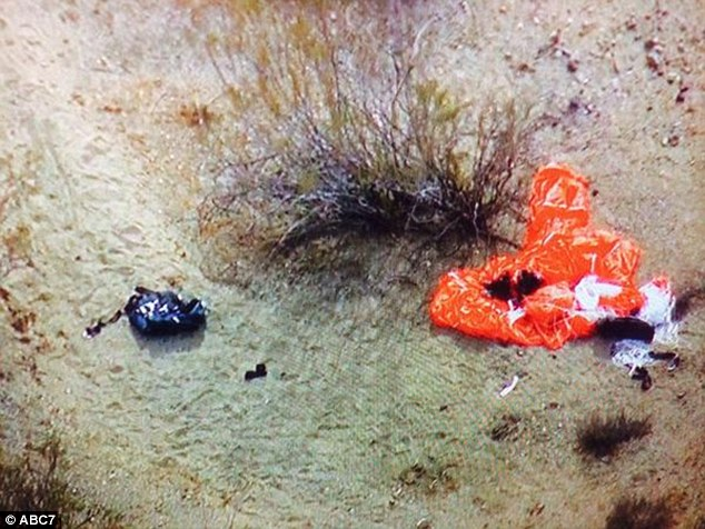 Parachutes were spotted in the area, and ABC captured this image of them on the ground