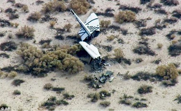 The Virgin logo is seen clearly in this image of the wreckage