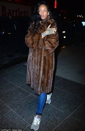 Image result for Rihanna In furs