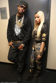 Not exactly an amicable split: Nicki Minaj and Safaree Samuels (pictured in November 2013) are said to have broken up following an argument that led to the rapper smashing a Mercedes