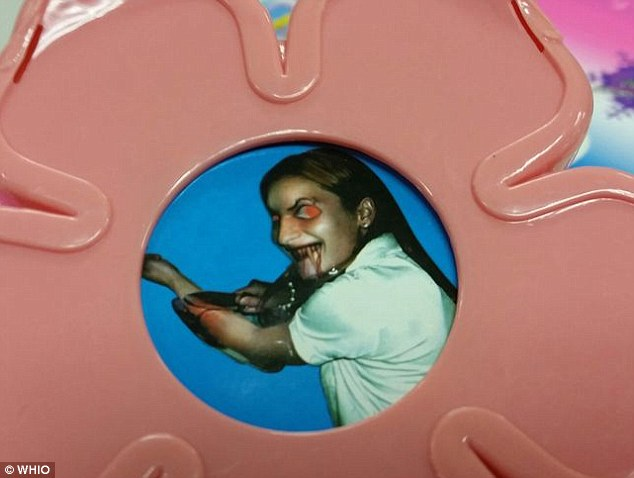 Scary: 'It's a picture of a girl slitting her wrists. I'm outraged over it,' said mother Nicole Allen, who bought the toy for her two-year-old daughter. 'I want to know how they think that that is suitable for a child'