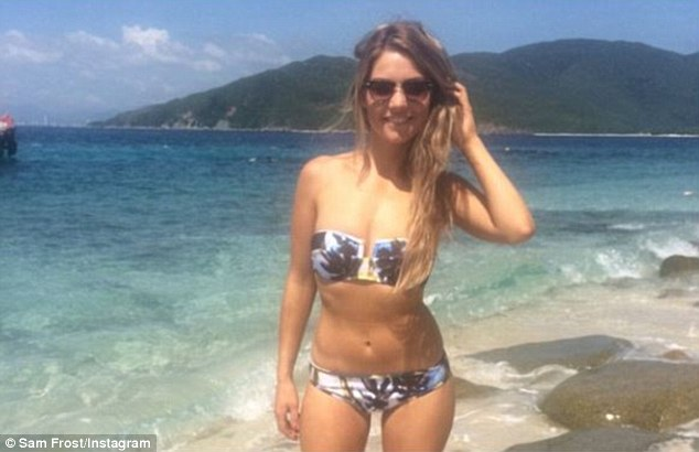 Take that Blake:Sam has been sharing several shots of herself wearing a bikini