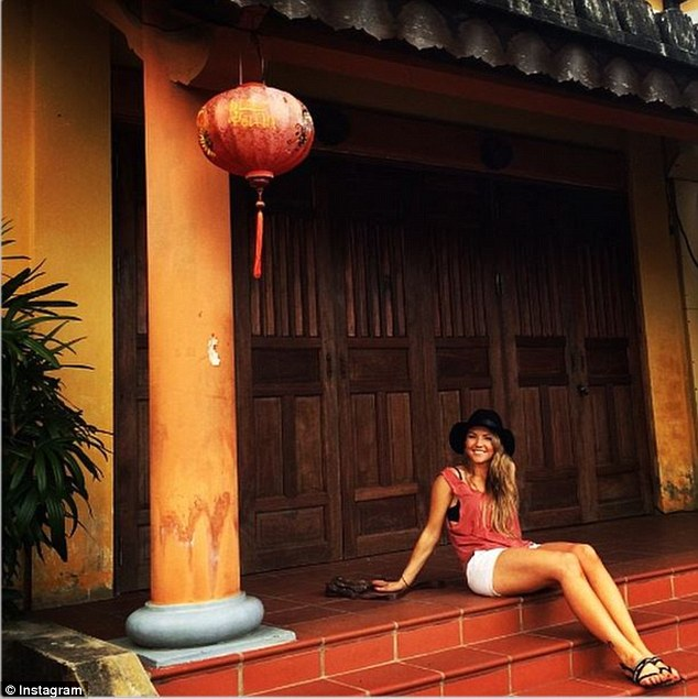 'Totally loving the bright colours': Sam has been enjoying the stunning sights Hoi An has to offer