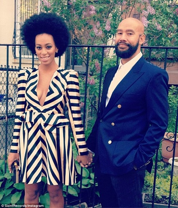 Longtime love: Solange has kept her relationship with Alan very private but shares the occasional snap of the couple on her Instagram