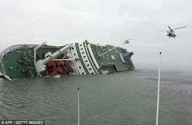 Capsized|: The ship capsized while making a turn during a routine voyage to the holiday island of Jeju