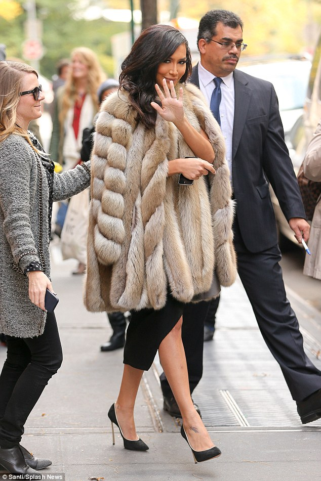 'You're someone's mother': Naya Rivera - seen in NYC on Tuesday - has thrown shade at Kim Kardashian after slamming her naked magazine cover on Instagram