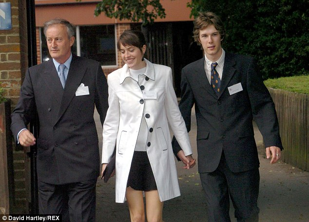 Lord Romsey pictured with his daughter Alexandra Knatchbull and son Nicholas Knatchbull in 2004
