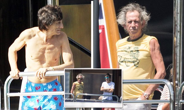 Rolling Stones Keith Richards And Ronnie Wood Spend The