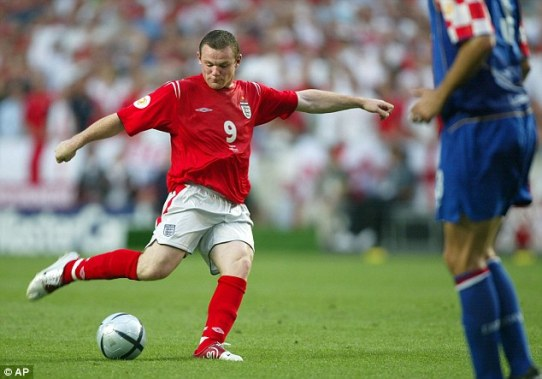 Image result for wayne rooney euro 2004