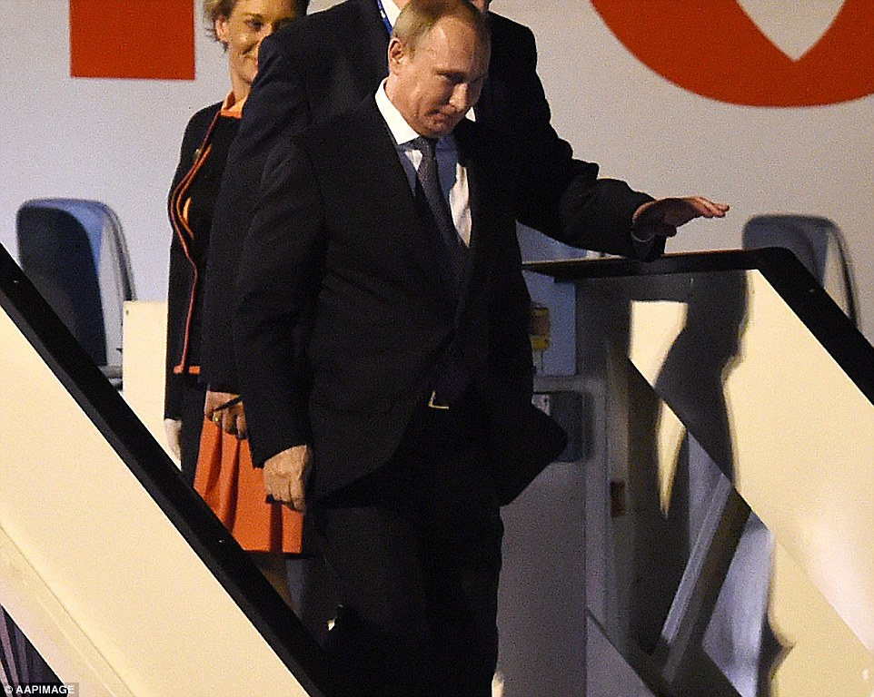 It appeared that the welcome party there to greet the Russian President reflected the underlying animosity that was expressed by many Western leaders over the course of the weekend