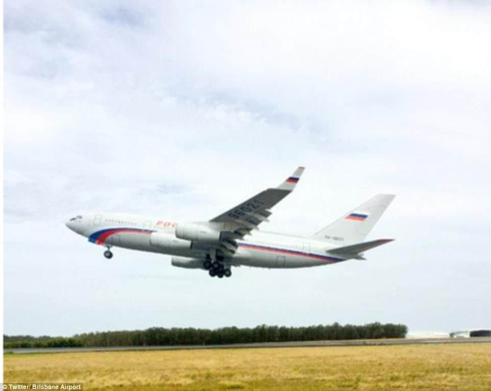 Mr Putin's plane flies out of Brisbane Airport on Sunday afternoon, taking the Russian President back to his homeland