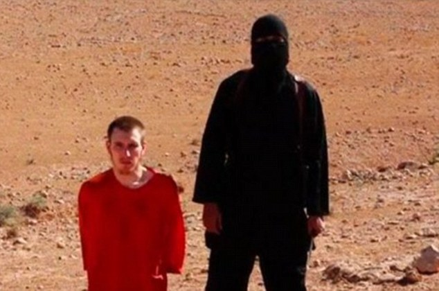 Last seen:It comes a month after Peter - who changed his name to Abdul-Rahman after converting to Islam - was paraded at the end of a graphic video (pictured) showing the murder of British aid worker Alan Henning