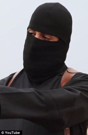 Still covered up: Jihadi John has so far shown the world only his eyes