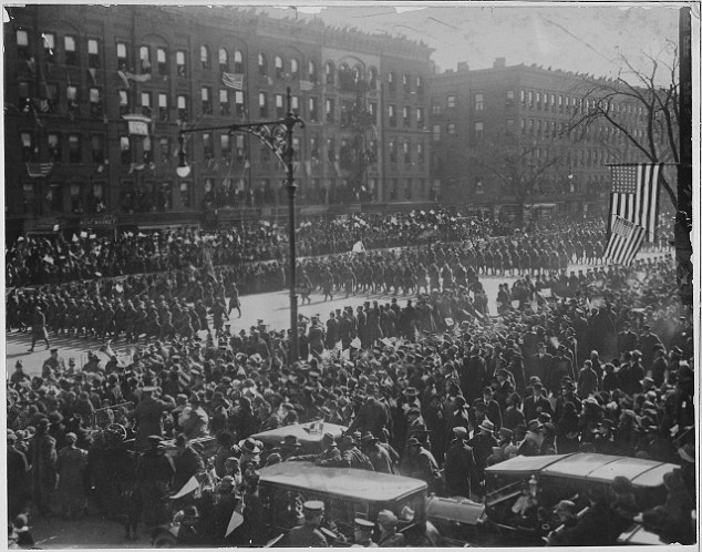 Deserving of more: For his heroics, Johnson was awarded one of the French government's highest honors, the Croix de Guerre. The still heavily segregated U.S., however, gave Johnson only a chauffeured car in New York's victory parade in 1919 and no awards or military benefits