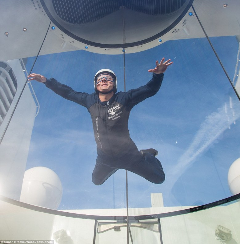 The iFly marks the first time such a simulator has appeared on a cruise ship