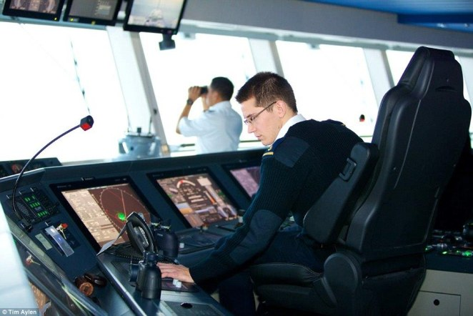 The ship cost over $1billion to manufacture, with techological innovations inside and outside the control room