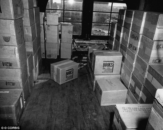 """Hideout: Files also claims his boss,Charles """"Chuckie"""" Nicoletti, was in the nearby book depository (above), and not Lee Harvey Oswald"""