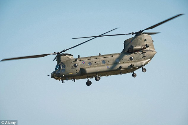 SAS SNIPER UNITS SCRAMBLED IN CHINOOKS: The heavily equipped troops are flown deep into IS territory aboard RAF transport helicopters, their quad bikes stowed on board, before touching down 50 miles from their target