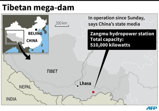 Tibetan mega-dam begins operation: China media | Daily Mail Online