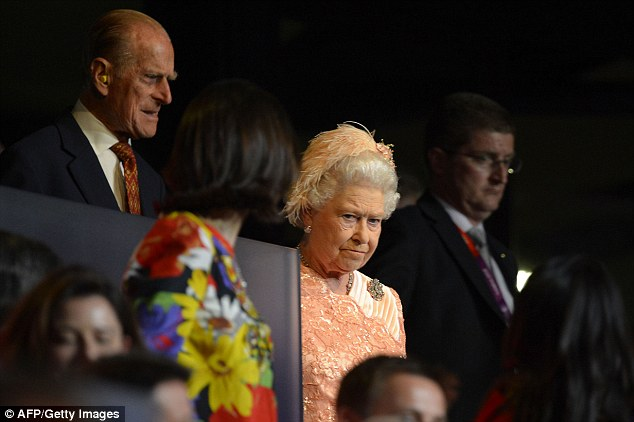 Shrimpton said the information had been blocked through official channels because the Germans had infiltrated MI5, MI6, and GCHQ (pictured, the Queen at the London 2012 opening ceremony)