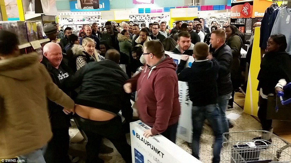 Image result for black friday crowd fight