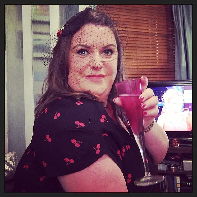 Mrs Duffie says she hopes her story will give hope to rosacea sufferers who are searching for treatments for the condition. Here, she is pictured with clear skin after using the Skin Shop's KALME range