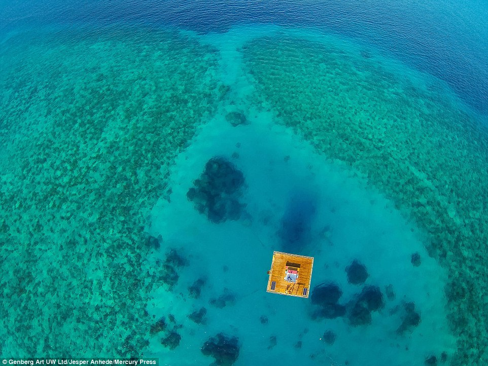 The Underwater Manta Room can only be reached by boat and issituated 820ft from the little-known island of Pemba, off the mainland of Tanzania and Zanzibar