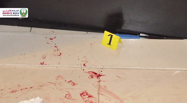Find: The CCTV footage shows how the knife was found directly under a door in the toilets