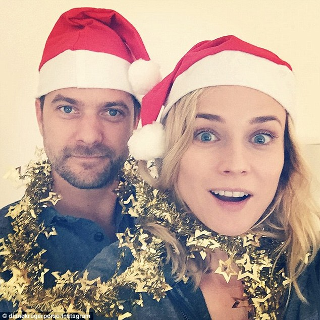 Diane Kruger And Boyfriend Joshua Jackson Don Santa Hats