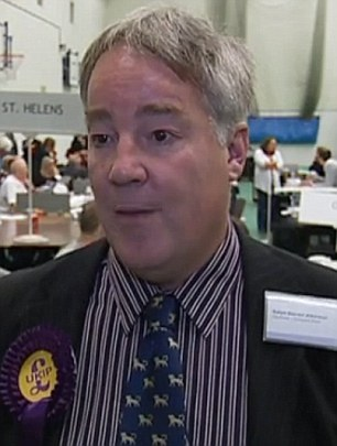 Row: Ralph Atkinson claims that he was kicked out in favour of Mr Michael. He has vented his anger in an email to local Ukip party members