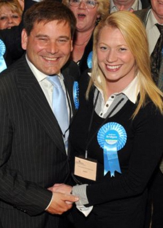 Police are investigating Jasna Badzak's allegation that Annabelle Fuller falsely accused Andrew Bridgen, pictured above with his wife Jackie, inappropriately touched her at his Westminster flat in 2011