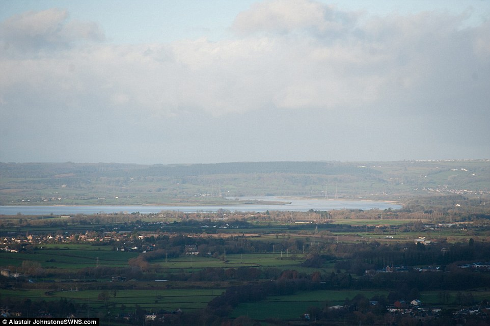 Calm before the storm: The Met Office said gale-force winds were predicted across the country next week. Pictured: The River Severn