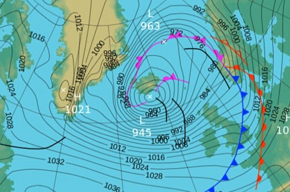 HD Decor Images » Weather bomb heads for west coast of Britain   Daily Mail Online Surface pressure  This chart from the Met Office shows the forecast for  early this morning