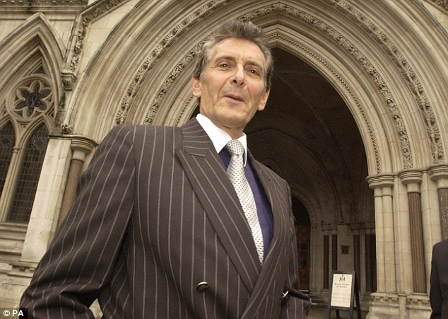 Cash for power: Property tycoon Nicholas van Hoogstraten, who is bankrolling Grace Mugabe, at the High Court in 2005 as part of a civil case brought against him by the family of business rival Mohamed Raja