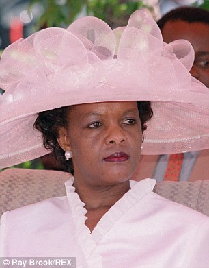 Mandatory Credit: Photo by Ray Brook/REX (422682k).. Grace Mugabe attending an Independence Day ceremony at the National Sports Stadium in Harare - 2000.. VARIOUS ZIMBABWE.. ..
