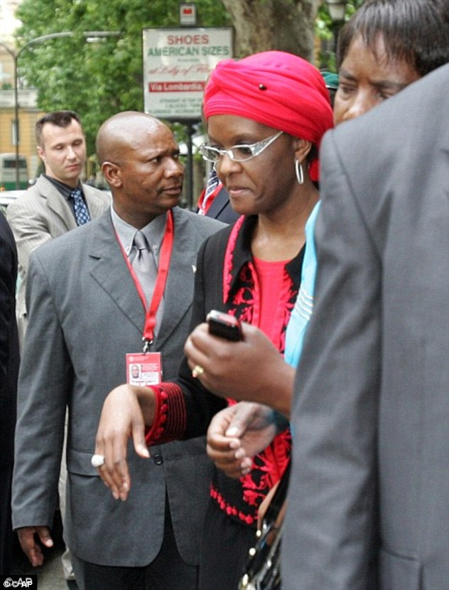 Shopping spree: The first lady is pictured on a shopping trip in Rome. She is known for her expensive spending habits