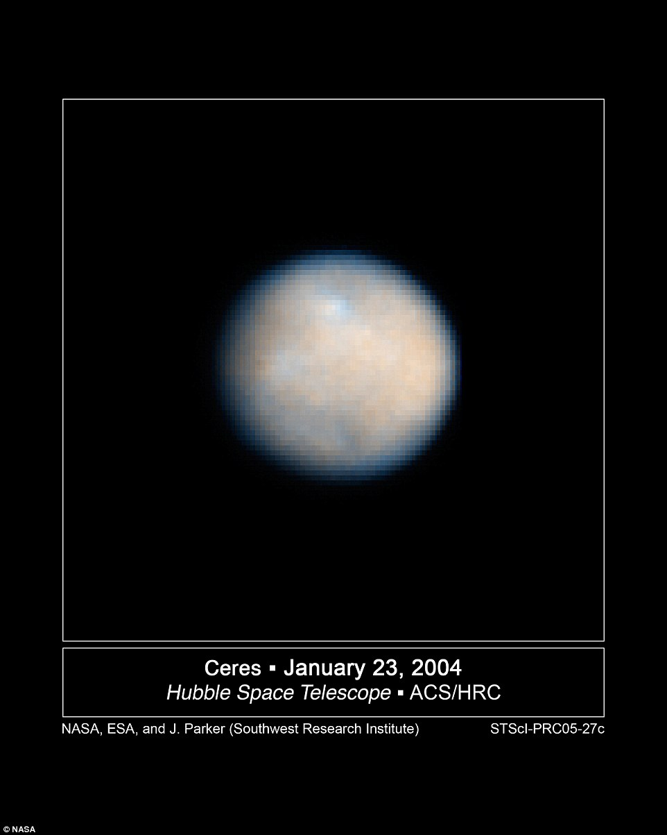 Ceres is 590 miles (950 km) across and was discovered in 1801. In January, researchers discovered that water was gushing from its surface