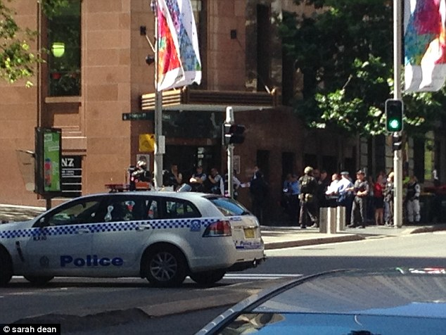 NSW Police are telling people to stay away from the area as the train station in Martin place has been closed