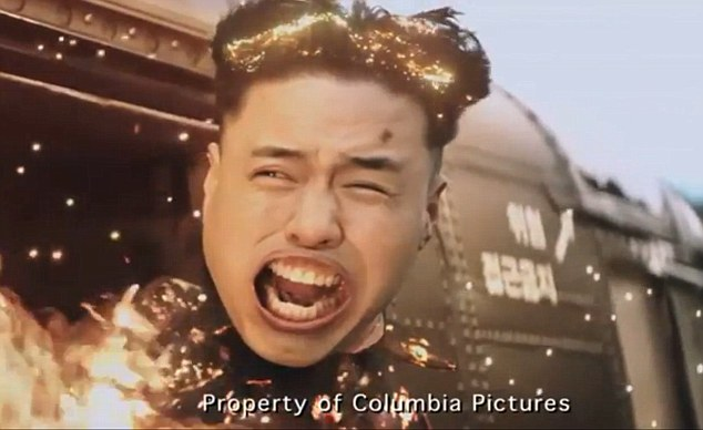 A still from The Interview - a Sony film which enraged the North Koreans after depicting their leader's death