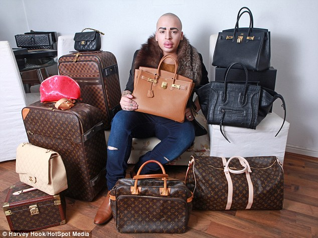 Fancy: He also spends extravagant amounts of money buying the same type of luggage used by the star