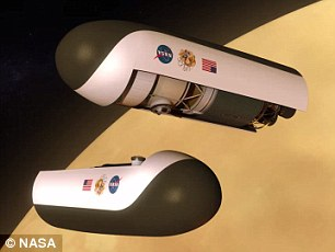 Earth-like: The ambitious project would take a spacecraft carrying folded up helium airships (right) to the planet where surface temperatures reach nearly 900F. However, at 31 miles above Venus, scientists say the conditions are far more Earth-like
