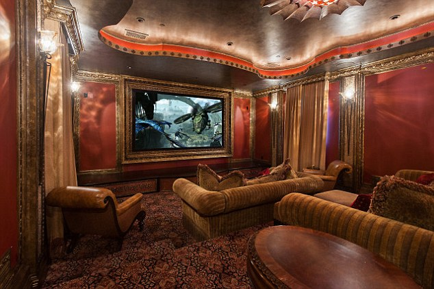 Screening: The 38-year-old could watch his own films in the home's cinema room